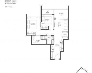 Pullman Residences 2 Bedroom Type B1