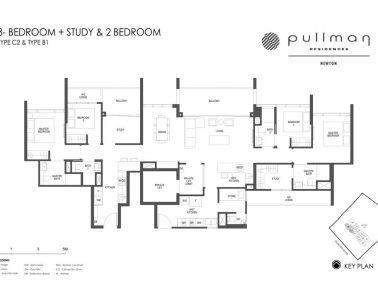 Pullman Residences 3 Bedroom + Study & 2 Bedroom Type C2 & Type B1