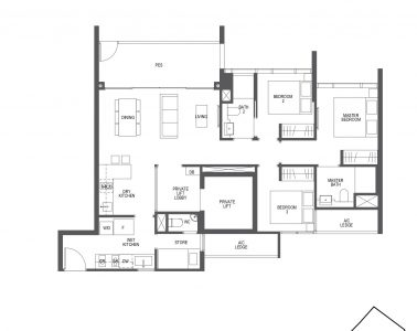Pullman Residences 3 Bedroom Type C1-P