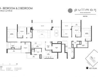 Pullman Residences 4 Bedroom & 2 Bedroom Type D1 & Type B1