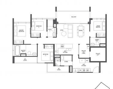Pullman Residences 4 Bedroom Type D1
