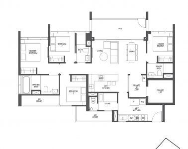 Pullman Residences 4 Bedroom Type D1-P