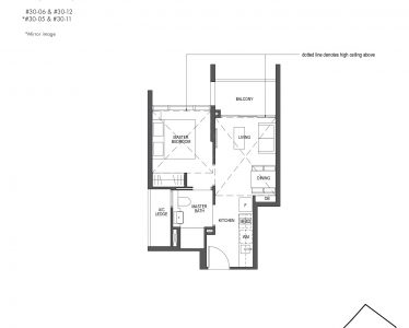 Pullman Residences Penthouse 1 Bedroom Type PH-1