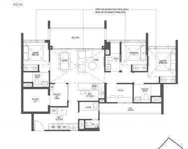 Pullman Residences Penthouse 3 Bedroom + Study Type PH-4