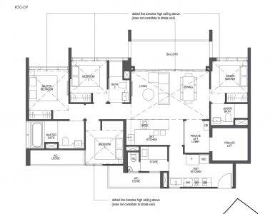 Pullman Residences Penthouse 4-Bedroom Type PH-5