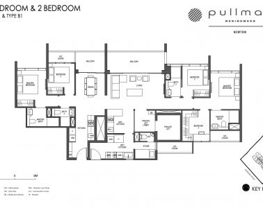 Pullman Residences 3 Bedroom & 2 Bedroom Type C2 & Type B1