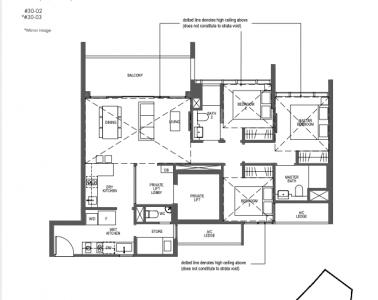 Pullman Residences 3 bedroom Type PH-3